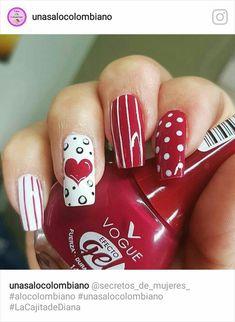 Holiday Acrylic Nails, Holiday Nails, Crazy Nail Art, Crazy Nails, Nail Designs Spring, Nail Art Designs, Uñas Diy, Valentine Nail Art, Sassy Nails