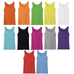 Buying these! I found this amazing 12-Pack: Womens Long 100% Cotton Tank Tops - Assorted Colors at nomorerack.com for 83% off. Sign up now and receive 10 dollars off your first purchase