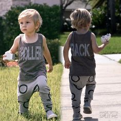 Holler back boys tank top. Toddler boy clothing. by LittleBeansCo