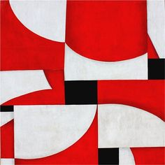 "Contemporary Abstract Red & White Acrylic Painting ""PDP by Cecil Touchon Contemporary Abstract Art, Museum Of Contemporary Art, Modern Art, Collages, Collage Artists, Walker Art, Glasgow School Of Art, Art Archive, Art Moderne"