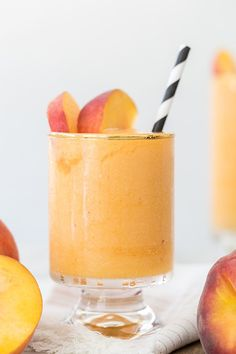Stay Cool with our Frozen Peach Bellinis! - Sugar and Charm - sweet recipes…