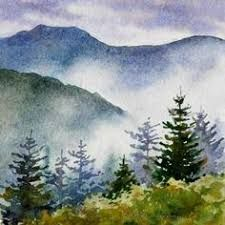 Image result for blue ridge mountain watercolors