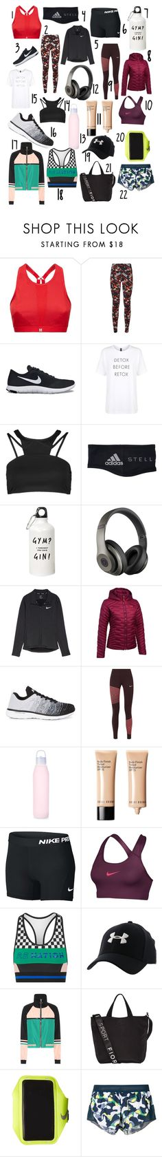 gym picks by serenasmitth on Polyvore featuring Sweaty Betty, P.E Nation, Under Armour, NIKE, adidas, Athletic Propulsion Labs, Fiorelli, Bobbi Brown Cosmetics and lululemon