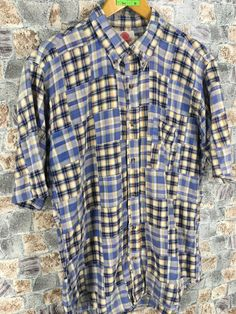 Excited to share the latest addition to my #etsy shop: Vintage 80's Patchwork Checkered Oxfords Shirt Large Vintage Union Made Multicolour Abstract Pattern Buttondown Mens Size L #vintagepatchwork #plaidcheckered #buttonupcheckered #patchworkshirt #menstripedshirt #buttonuppatchwork #menplaidshirt #menflannelstripes #flannelpatchwork Union Made, Work Shirts, Flannel Shirt, Men Casual, Trending Outfits, Plaid, Abstract Pattern, Oxfords, Mens Tops