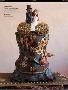 FABULOUS STEAMPUNK WEDDING CAKES | Found on cakesdecor.com