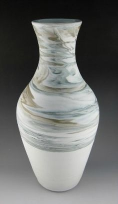 """Pottery  My agateware porcelain vases. Is it bad to pin your own work to """"products I love""""?"""