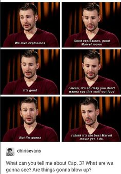 CA: Civil War is going to be the best Marvel movie yet #chrisevans