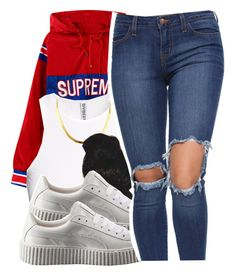 """❤️"" by lookatimani ❤ liked on Polyvore featuring H&M and Puma"
