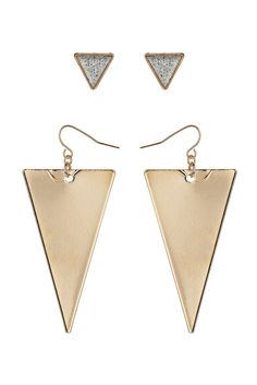 Triangle Earring Multipack  Price: £8.50  Colour: clear