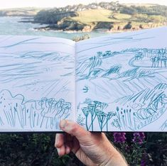 """Matt Johnson on Instagram: """"Went for walk and a sketch yesterday evening to Maenporth and back. Haven't walked late in the evening for ages but it was rather good 😀…"""""""