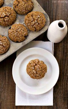 Gingerbread Muffins made with Greek yogurt