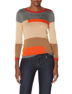 Mixed Colorblock Sweater | Crew Neck Sweater | THE LIMITED