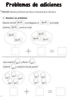 Actividad a realizar: Resuelve los problemas Problemas de adiciones: Resuelve problemas sencillos en situaciones de la vida diaria.