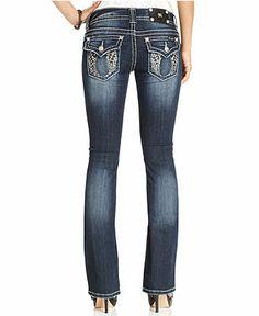 Miss Me Jeans, Bootcut Dark-Wash Rhinestone - Jeans - Women - Macy's