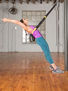 Wheel: Step 1 #trx #yoga # http://greatist.com/move/trx-yoga-workout