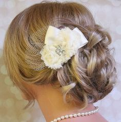 Bridal Hair Flower Ivory Wedding Hair Flower   Latest And Trendy Bridal Hairstyles