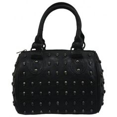 Minerva Collection Small Studded Skull Fashion Grab Bag Black  Price : £26.00 http://www.minervacollection.com/Minerva-Collection-Small-Studded-Fashion/dp/B003YDO1A0