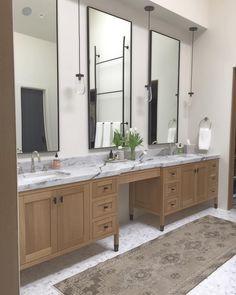 Home Interior Decoration .Home Interior Decoration Bathroom Mirror Design, Bathroom Renos, Bathroom Furniture, Modern Bathroom, Small Bathroom, Oak Bathroom Vanity, Wood Vanity, Furniture Legs, Bathroom Styling