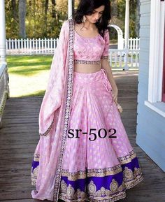 Shop #Designer #Lehenga Choli SR-502 Replica Online with the best price. Flaunt latest styled cuts and look with these Indian Dresses, Give yourself the stylish look for Family Parties and Wedding. Product Quality Rated: 4/5 Availability: On Request Price Range: US$$ Always get the Best Price. Retail (Singles) and Wholesale (Bulk) Orders are Welcome. ⇒ Explore All Designs a.k.a Looks Now…