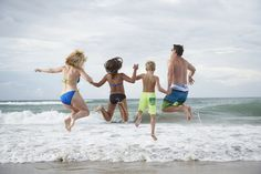 The family that jumps waves together … stays together!