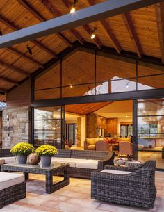 Modern rustic patio space. Stocker Hoesterey Montenegro Architects - Luxe Interiors + Design