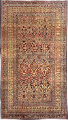 Antique Kerman Persian Rug 1220 http://nazmiyalantiquerugs.com/antique-rugs/all-over/antique-kerman-persian-rug-1220/