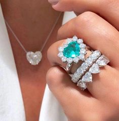 Ice Blue Natural Heart Paraiba Tourmaline Ring, Copper Bearing Paraiba With Exotic Neon Blue Color and Glow, Comes with 2 Diamond Bands 14k Gold Necklace, Diamond Solitaire Necklace, Diamond Bands, Halo Diamond, Royal Jewelry, Custom Jewelry, Fine Jewelry, Jewellery, Heart Jewelry