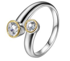 ELLE Time & Jewelry ESSENCE collection CZ bypass ring