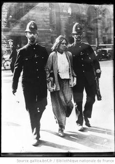 22-5-14, Londres, arrestations de suffragettes : [photographie de presse] / [Agence Rol] - 1