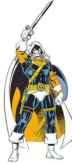 An old character profile of Marvel Comics' Taskmaster, as he appeared during his early years. Pictures, skills, RPG stats, etc.