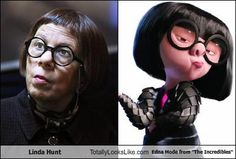 "Linda Hunt looks like Edna Mode from ""The Incredibles!"""