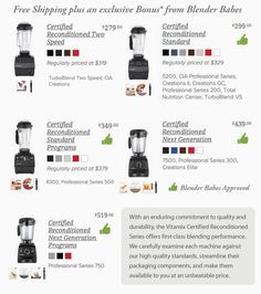 Refurbished @Vitamix Sale! Which ones are most recommended by @BlenderBabes Plus FREE SHIPPING + FREE GIFT!