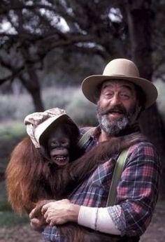 Mr. Edwards and the orangutan Blanche. (Little House on the Prairie)