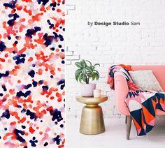 Inspiratie Moodboard II Colorful Orange, Dark Blue and Baby Pink II www.designstudiosam.nl