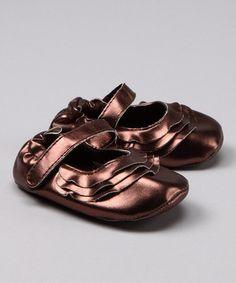 Brown Metallic Mary Jane