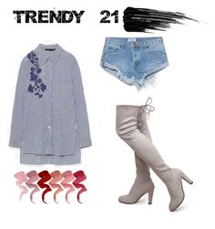 """""""floral embroidery shirt"""" by trendy21com on Polyvore featuring OneTeaspoon and Urban Decay"""