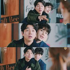 Goblin :The Lonely and Great God \Episode and Grim Reaper Goblin The Lonely And Great God, My Cute Love, Goblin Korean Drama, Goblin Gong Yoo, Goblin Kdrama, Drama Funny, Weightlifting Fairy Kim Bok Joo, Kdrama Memes, Lee Dong Wook