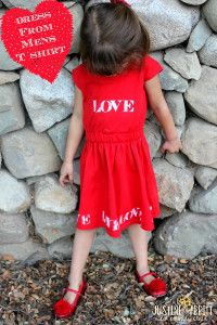 It's Only Love Dress - Beyond a typical DIY t-shirt dress, this piece involves stenciling to include a term of endearment over your fabric that varies the process of sewing a dress.