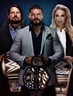 AJ, Bobby, and Charlette❤ Smack Down Live Champs !!! The A- Listers!!!