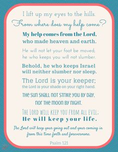 Psalm 121 Scripture Printable