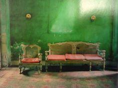 dark green wall