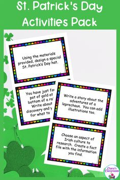 These ready to go, no prep St. Patrick's Day Activities would be ideal for First Grade, Second Grade and Third Grade teachers hoping to celebrate St. Patrick's Day with their students. There are plenty of St Patricks Day activities to choose from, including a reading comprehension about the origins of St. Patrick's Day and how it is celebrated. Also includes task cards, KWL chart, fact file templates and a printable for creating a bulletin board display in your classroom. Download from TpT. Multicultural Classroom, Classroom Resources, Teaching Resources, Primary School Teacher, My Teacher, First Grade, Second Grade, Ireland Facts, St Patrick Day Activities