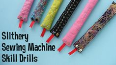 sewing machine skill drills for kids from Shiny Happy World