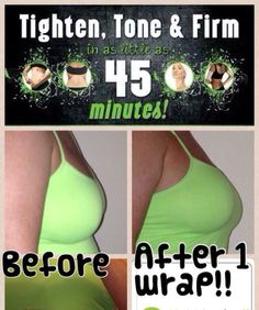 It's tank top time--Need a lift?! Surprise! It Works! Ultimate body applicator can even be used on your breasts ladies! Check it out! FYI this is one of the distributors from my team after just one wrap for 45 minutes! Imagine what a full treatment of four could do! Go to my website to see how you  can get a box of 4 for only $59! www.wrapmeshannon.myitworks.com :)