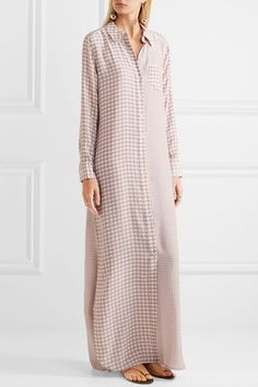 Equipment | Brett gingham washed-silk maxi dress | NET-A-PORTER.COM