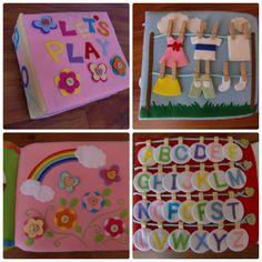 フェルトの仕掛け絵本 型紙完成   shido-ricoのほほん子育て♪ハンドメイド日記 Craft Work For Kids, T Play, Busy Book, Handmade Toys, Plastic Cutting Board, Baby Gifts, Diy And Crafts, Anna, Sewing