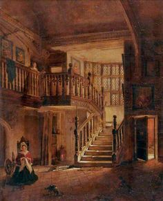 Interior of Strangers' Hall, Norwich by By Samuel Dukinfield Swarbreck, 1861.