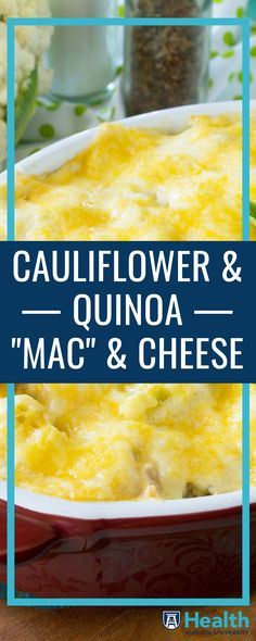 Whether you're looking to lower your carb intake or try gluten-free recipes, this pasta-free version of mac and cheese can satisfy those dietary needs while also satisfying your comfort food cravings.