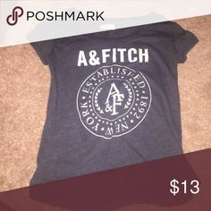 Abercrombie & Fitch T-Shirt Navy Blue Abercrombie & Fitch T-Shirt Abercrombie & Fitch Tops Tees - Short Sleeve