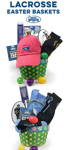 Lacrosse Easter Baskets pre-filled with exclusive lacrosse gifts and apparel you can only find at ChalkTalkSPORTS.com! All baskets are up to a 55% savings compared to purchasing all items separately! Surprise your favorite lacrosse players with a one of a kind basket on Easter this year!